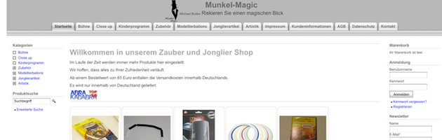 Zaubershop Munkel Magic