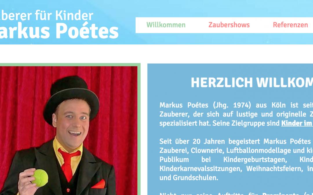 Kinderzauberer Markus Poétes
