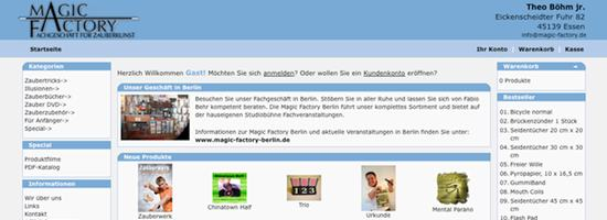 Zaubershop Magic Factory