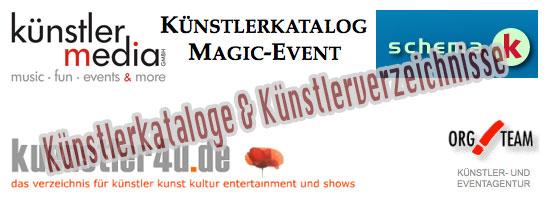 Zauberer und Künstlerkataloge