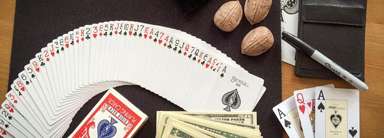 Close-up Zauberer Karten