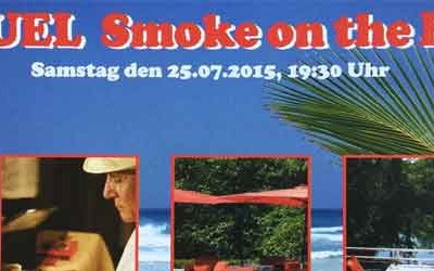 Close-up Zauberer beim Smoke on the Beach