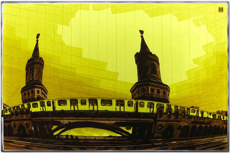 Tape Art Oberbaumbrücke Berlin