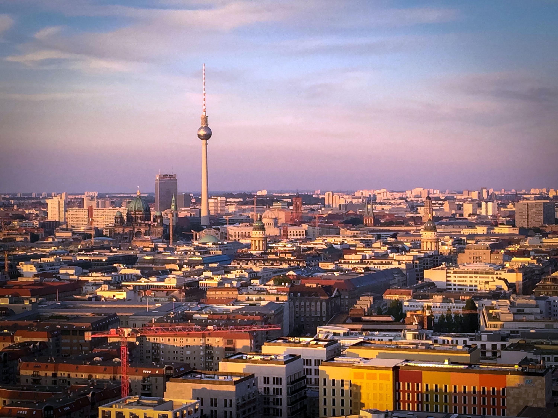 Close-up Zauberer auf dem Panorama Punkt Berlin
